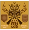 Special unit military patch - set vector