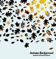 Autumn horizontal pattern background with black vector