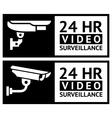 Video surveillance stickers vector