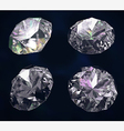 Set of four colored gems vector