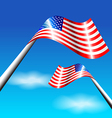 American flag for independence day usa vector