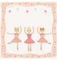 Background with three ballerinas vector