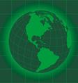 North america green vector