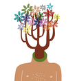 Man with tree in head vector