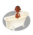 Boy bath vector