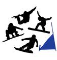 Snowboard silhouette vector