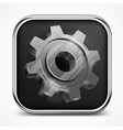 Icon with gear on white vector