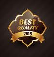 2015 best quality golden label design vector