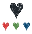 Hearts grunge icon set vector