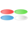 Colorful plates vector