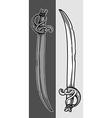 Ancient sabers vector