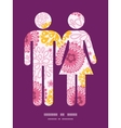 Pink field flowers couple in love silhouettes vector