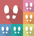 Shoe prints or footprint icon vector