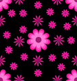 Seamless pattern pink flowers on black background vector