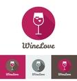 Modern flat wine shop restaurant or bar logo vector