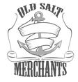 Old salt merchants logos and pictures vector