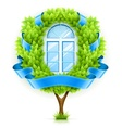 Ecological window concept vector
