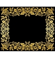 Vintage gold frame with floral elements vector