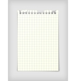 Checkered note paper sheet vector