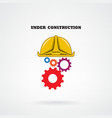 Under construction conceptual background vector