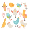 Cute birds collection vector