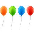 Set of realistic celebration balloons vector