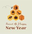 Greeting card for jewish new year rosh hashana vector