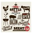 Meat works design elements vector