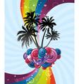 Rainbow festive banner vector