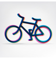 Colorful bicycle icon vector