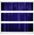 Abstract blue rectangle shapes banner vector