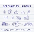Sketchnote houses vector