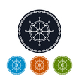 Icon ships wheel and chain vector