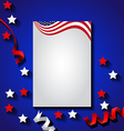 American flag background for independence day usa vector