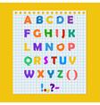 Complete colorful paper alphabet vector