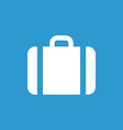 Case icon icon white on the blue background vector