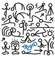 Yoga doodles vector