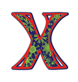 Winter letter x vector