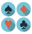 Playing cards flat vector