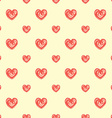 Seamless pattern from hearts grunge hand drawn vector