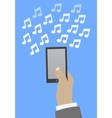 Smartphone in hand music vector