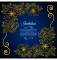 Elegant invitation card with floral lace quilling vector