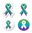 Medullary sponge kidney msk awareness ribbon vector