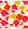 Simple seamless pattern with flowers and vector