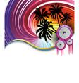 Rainbow beach party vector