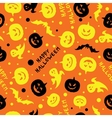Happy halloween card design vector