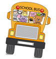Animals bus vector