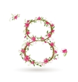 Floral number eight for your design vector