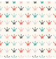 Simple seamless pattern with crown vintage colors vector