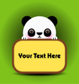 Baby panda with place your text here vector